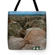 Wildflowers In The Badlands Tote Bag