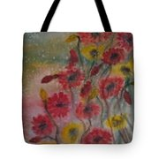 Wildflowers Still Life Modern Print Tote Bag
