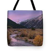 Wildhorse Creek Autumn Sunrise Tote Bag
