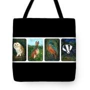 wildlife Quartet Tote Bag