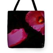 Wildly Pink On Black Flower Tote Bag