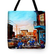Wilensky's A Friendly Game Of Hockey Tote Bag