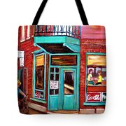 Wilenskys Cafe On Fairmount In Montreal Tote Bag