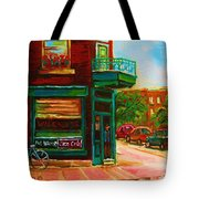 Wilenskys With Red Geraniums Tote Bag