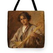 Wilhelm Amardus Beer, Portrait Of A Musician Boy Tote Bag