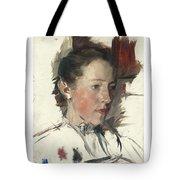 Wilhelm Leibl 1844 - 1900 German Bauernmadchen Farm Girl Tote Bag