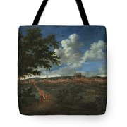 Wilhelm Von Bemmel A Panoramic View Of Nuremburg With Riders In The Foreground Tote Bag