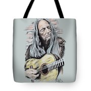 Wiliie Nelson Tote Bag