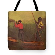 Will Schuster And A Black 1876 Tote Bag