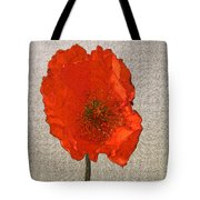 Will The Poppy In The Back Please Stand Up Tote Bag