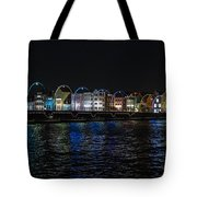 Willemstad Curacao At Night Tote Bag