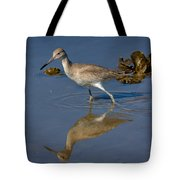Willet Searching For Food In An Oyster Bed Tote Bag