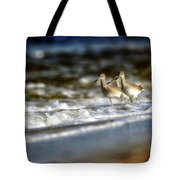 Willets In The Waves Tote Bag