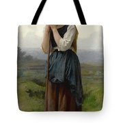William Bouguereau 1825-1905 French Petite Bergere Tote Bag