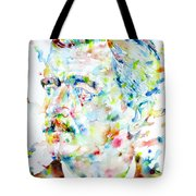William Faulkner - Watercolor Portrait.4 Tote Bag