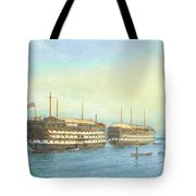 William Frederick Mitchell , H.m.s. Excellent And H.m.s. Calcutta In Portsmouth Harbour, 1897 Tote Bag