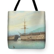 William Frederick Mitchell, H.m.s. Brittania And H.m.s. Hindostan On The Dart, 1897 Tote Bag
