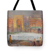 William James Glackens American, 1870-1938 Street Cleaners Tote Bag