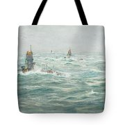 William Lionel Wyllie, Submarines In The Channel Tote Bag