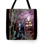 William Seward Statue And Empire State Bldg With Trees Tote Bag