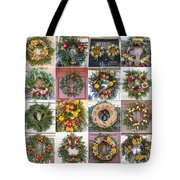 Williamsburg Christmas Collage Squared 3 Tote Bag