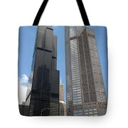 Willis Tower Aka Sears Tower And 311 South Wacker Drive Tote Bag