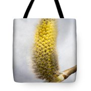 Willow Catkin - Silver World Tote Bag