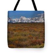 Willow Flats At Grand Teton Panorama Tote Bag