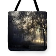 Willow In Fog Tote Bag
