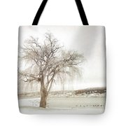 Willow Tree In Winter Tote Bag