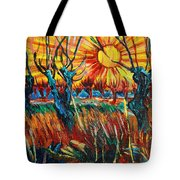Willows At Sunset - Study Of Vincent Van Gogh Tote Bag