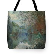 Willows At The Edge Of The Yerres Tote Bag