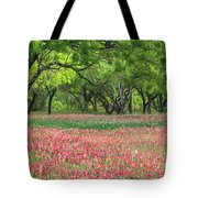 Willows,indian Paintbrush Make For A Colorful Palette. Tote Bag