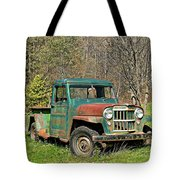 Willys Jeep Pickup Truck Tote Bag