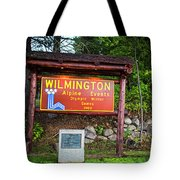 Wilmington Ny Alpine Events Olympic Winter Games 1980 Ski Lift Tote Bag