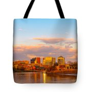 Wilmington Skyline At Sunset Tote Bag