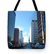 Wilshire Blvd  - West La Traffic Tote Bag