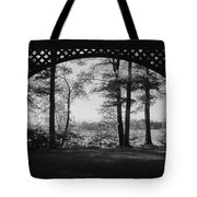Wilson Pond Framed In Black And White Tote Bag