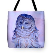 Wind Blown Owl  Tote Bag