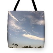 Wind Currents Over Palms Tote Bag