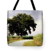 Wind Motif Old Dam Road Tote Bag