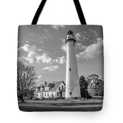 Wind Point Lighthouse And  Old Coast Guard Keepers Quarters  3 Tote Bag