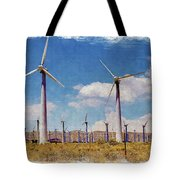 Wind Power Tote Bag