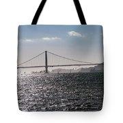 Wind Surfing Under The Bridge Tote Bag