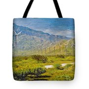 Wind Turbine Farm Palm Springs Ca Tote Bag