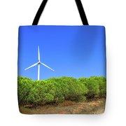 Wind Turbines Landscape Tote Bag