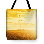 Windfarm Sunset Tote Bag