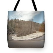 Winding Country Road In Winter Tote Bag