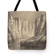 Winding River Through A Rock Formation (philae, Egypt) Tote Bag