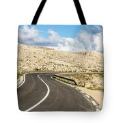 Winding Road On The Pag Island In Croatia Tote Bag